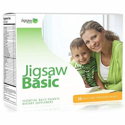 Jigsaw Health Basic Essential Daily Packets: Best Once a Day Multivitamin Supplement Packet Including: Magnesium, B Vitamins, Curcumin, Vitamin C, Antioxidants, Multi Mineral, Omega-3 Fish Oil + Vitamin D3.