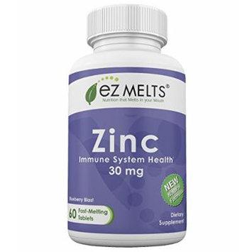 EZ Melts Zinc, 30 mg, Fast Melting Tablets