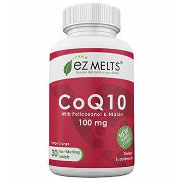 EZ Melts CoQ10, 100 mg, Fast Melting Tablets