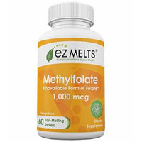 EZ Melts Methylfolate, 1,000 mcg, Fast Melting Tablets