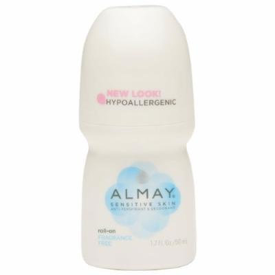 Almay Roll-On Antiperspirant & Deodorant, Fragrance Free 1.7 oz Pack of 3