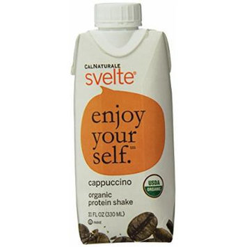 CalNaturale Svelte Organic Protein Shake, Cappuccino, 11 Ounce, 18 Count