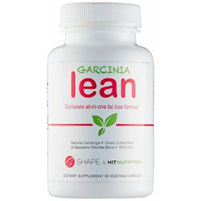 HIT Shape Garcinia Lean; The Natural Fat Burner, Complete All-In-One Caffeine-Free Fat Loss Formula with Raspberry Ketones, Garcini Cambogia, and Green Coffee Bean Extract, 60 Vegetable Capsules
