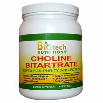 Biotech Nutritions Choline Bitartrate, 750 Gram