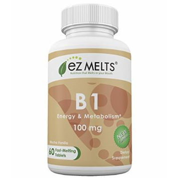 EZ Melts B1, 100 mg, Fast Melting Tablets