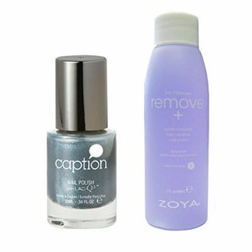 Bundle of Two Items: Caption Nail Polish in Mondays the New Friday .34 oz with Nail Polish Remover 2 oz