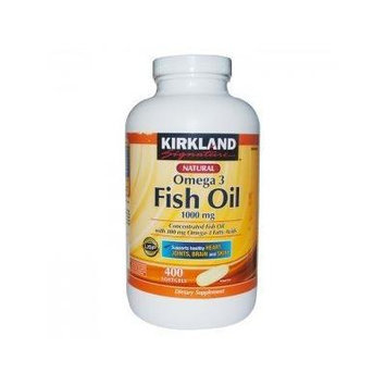 Kirkland Signature Omega-3 Fish Oil Concentrate 1000 mg Fish Oil with 30% Omega-3s (300 mg) , New Mega Size Package , 1200 Tablets