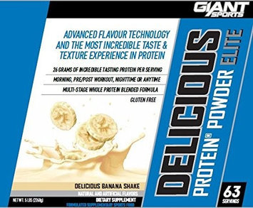 Giant Sports Delicious Protein Elite, Banana, 5 Pounds