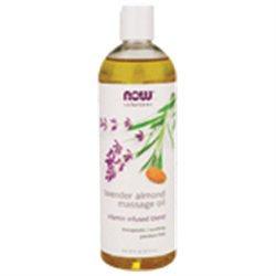NOW Foods - Lavender Almond Massage Oil - 16 oz.