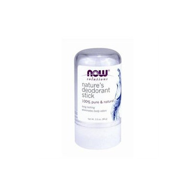 NOW Foods - 100 Pure & Natural Nature's Deodorant Stick - 3.5 oz.
