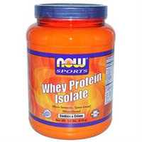 NOW Sports Whey Protein Isolate, Cookies & Cr me, 1.8 lb