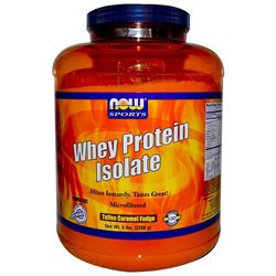 NOW Foods - Whey Protein Isolate Toffee Caramel Fudge - 5 lbs.