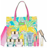 Estee Lauder Lilly Pulitzer Makeup Set with Tote and Advanced Time Zone .5 Oz