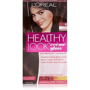 3 Pk, L'Oreal Paris Healthy Look Creme Gloss Color, Dark Brown/Dark Chocolate 4