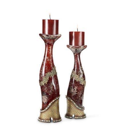 Wantech - Ok Lighting Wantech OK Lighting Crystal Stone Collection Candleholder Set