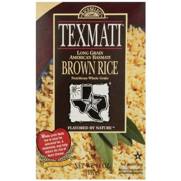 Rice Select RiceSelect Long Grain Texmati Brown Rice, 14-Ounce Boxes (Pack of 6)