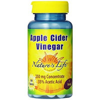 Nature's Life Apple Cider Vinegar Tablets, 250 Mg, 100 Count