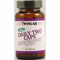 Twinlab Daily Two Caps with Iron 90 Capsules