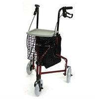 Mabis Healthcare Briggs Healthcare 3-Wheel Alumium Rollator Basket