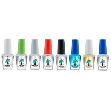 SNS Gel dipping powder (set of 8) Gel Base, Gelous Base, Gel Top, EA Bond, Sealer Dry, Brush Cleaner, Vitamin Oil, Brush on Glue