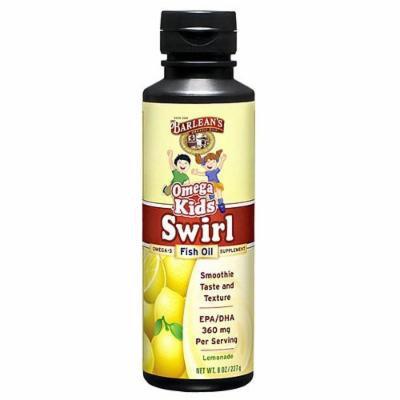 Barlean's Organic Oils Kid's Omega Swirl, Omega-3 Fish Oil Supplement, Lemonade 8 fl oz