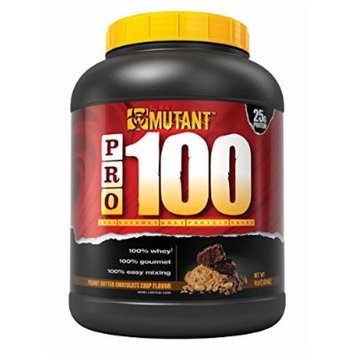 Mutant PRO 100 Whey, Delicious High Quality Gourmet Protein Powder, Peanut Butter Chocolate Chip, 4 Pound