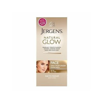 Jergens Natural Glow FACE Daily Moisturizer Sunscreen, Fair to Medium Skin Tone 2 fl oz