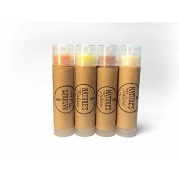 Nature's Nature Fruity Lip Balm Pack (4 Count*0.15oz)