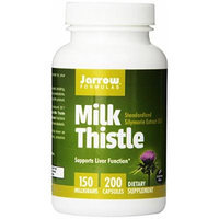 Jarrow Formulas Milk New Mega Size Package Thistle Standardized Silymarin Extract 30:1 Ratio, 150 mg per Capsule 800 Gelatin Capsules