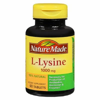 Nature Made Extra Strength L-Lysine, 1000 mg Tablets 60 ea