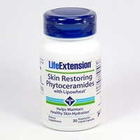 Life Extension Skin Restoring Phytoceramides w/ Lipowheat Total of 120 Liquid Capsule , Extension-dh3h