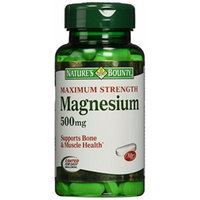 Nature's Bounty High Potency Magnesium 500mg, 300 Tablets (3 X 100 Count Bottles)