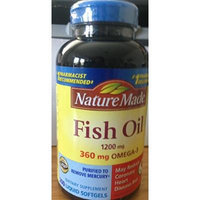 Nature Made Fish Oil Omega-3 1200mg (1 Pack of 200 Liquid Soft Gels)