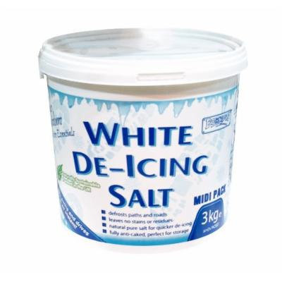3kg WHITE DE-ICING PURE SALT TUBE NATURALLY SUSTAINABLE PERFECT FOR STORAGE