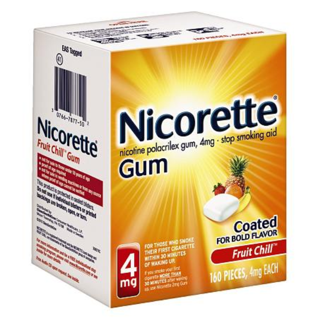 Nicorette Fruit Chill 4 mg Gum