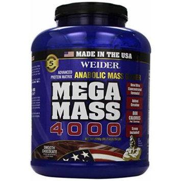 Weider MEGA MASS, Clean Anabolic Mass Gainer Formula, Smooth Chocolate, 5.95lbs
