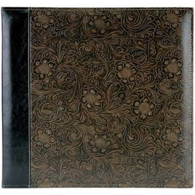 Pioneer Photo Albums Embossed Stitched Leatherette Postbound Album