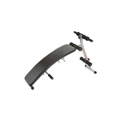 Crescendo Fitness Curve Sit-Up Bench with Dumbbell Rack