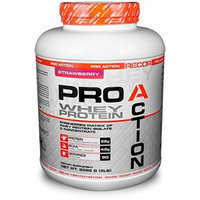 Reaction Nutrition Recor Pro Action Whey Protein, Strawberry, 5 Pound