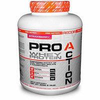 Reaction Nutrition Recor Pro Action Whey Protein, Strawberry, 5 Pound