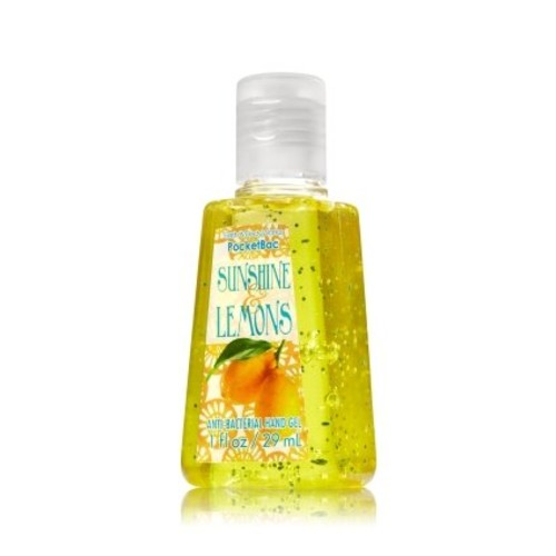 Bath & Body Works Sunshine & Lemons Pocketbac - Bath & Body Works Antibacterial Hand Sanitizer Gel