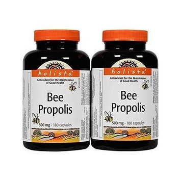 Value Pack- Holista Bee Propolis 500 mg 180 capsules (pack of 2)
