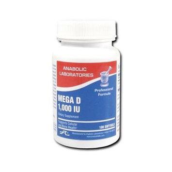 Anabolic Laboratories, Mega D 1000 IU Vitamin D3 100 softgels