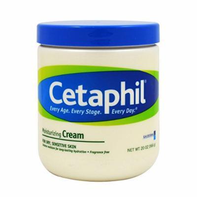 Cetaphil Moisturizing Cream for Dry, Sensitive Skin, Fragrance Free, Non-comedogenic (80 Oz) ,Cetaphil-