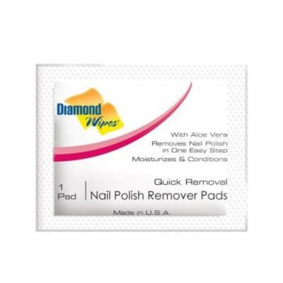(20) Diamond Wipes Quick Removal Nail Polish Remover Pads Individually Wrapped