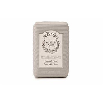 Mistral Fleurs Blanches White Flowers French Luxury Bar Soap 7 oz (200g)