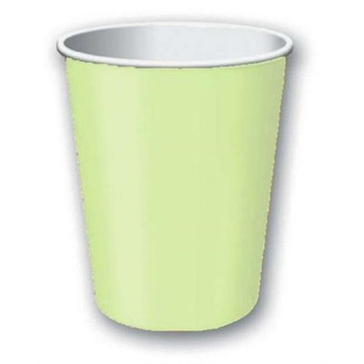 Amscan 68015.115 9 oz. Leaf Green Plastic Paper Cup - Pack of 120