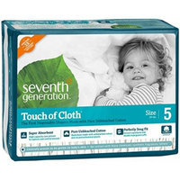 Seventh Generation Touch of Cloth Diapers, Size 5, 112 Count