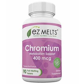 EZ Melts Chromium, 400 mcg, Fast Melting Tablets