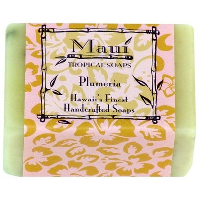 Maui Tropical Soaps Plumeria, 5-Ounce (Pack of 3)